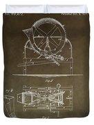 Vintage Cider Mill Patent Duvet Cover