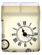 Vintage Clocks Duvet Cover