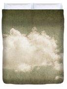 Vintage Clouds Background Duvet Cover