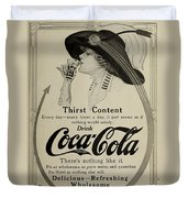 Vintage Coca Cola Ad 1911 Duvet Cover