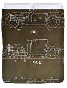 Vintage Corvette Patent Duvet Cover