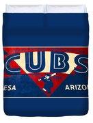 Vintage Cubs Spring Training Sign Duvet Cover