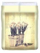 Vintage Daffodils Duvet Cover