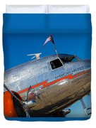 Vintage Dc-3 Airplane Duvet Cover