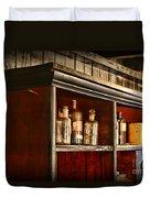 Vintage Druggist Shelf Duvet Cover