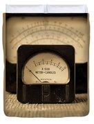 Vintage Electrical Meters Duvet Cover