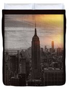 Vintage Empire State Building Duvet Cover
