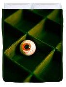 Vintage Fake Eyeball Duvet Cover by Edward Fielding