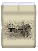 Vintage Farm Buildings Duvet Cover