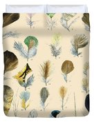 Vintage Feather Study-c Duvet Cover