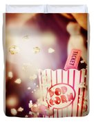 Vintage Film And Cinema Duvet Cover