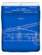 Vintage Firetruck Patent - Blueprint Duvet Cover
