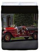 Vintage Firetruck Duvet Cover by Susan Candelario