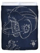 Vintage Football Helment Patent Drawing From 1935 Duvet Cover by Aged Pixel