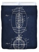 Vintage Football Patent Drawing From 1923 Duvet Cover