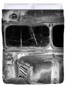 Vintage Ford Bus In Minnesota Duvet Cover