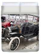 Vintage Ford Motor Vehicle Duvet Cover by Douglas Barnard
