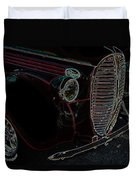 Vintage Ford Neon Art Grill Duvet Cover