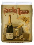 Vintage French Poster Andrieux Wine Duvet Cover