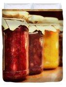 Vintage Fruit And Vegetable Preserves I Duvet Cover