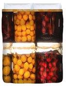 Vintage Fruit And Vegetable Preserves II Duvet Cover