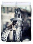 Vintage Ft. Worth Stockyards Water Pump Duvet Cover