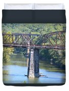Vintage Garden City Bridge Duvet Cover