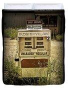 Vintage Gas Pump At An Abandoned Filling Station Duvet Cover
