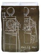 Vintage Gas Pump Patent Duvet Cover