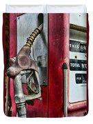 Vintage Gas Pump Duvet Cover