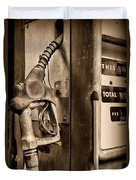 Vintage Gas Pump Showing Its Age Duvet Cover
