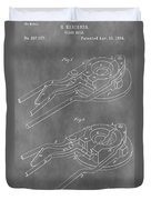 Vintage Glass Mold Patent Duvet Cover