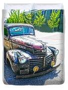 Vintage Gm Truck Frontal Hdr Duvet Cover