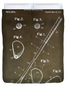 Vintage Golf Club Patent Duvet Cover