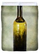 Vintage Green Glass Bottle Duvet Cover