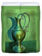 Vintage Green Pewter Pitcher Duvet Cover