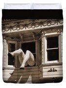 Vintage Haight And Ashbury San Francisco Duvet Cover by RicardMN Photography
