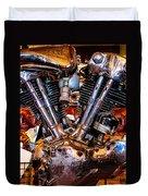 Vintage Harley Knucklehead Duvet Cover