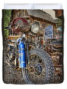 Vintage Harley With Nos Duvet Cover