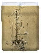 Vintage Helicopter Patent Duvet Cover
