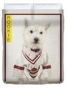 Vintage Hockey Rookie Player Card Duvet Cover