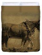Vintage Horse Plow Duvet Cover