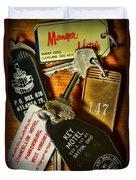 Vintage Hotel Keys Duvet Cover