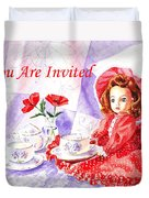 Vintage Invitation Duvet Cover