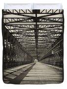 Vintage Iron Truss Bridge Duvet Cover
