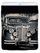 Vintage Jaguar 1950s Duvet Cover
