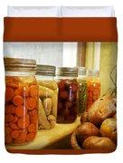 Vintage Jars On A Kitchen Window Duvet Cover