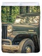 Vintage Jeep Station Wagon Duvet Cover