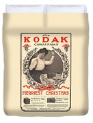 Vintage Kodak Christmas Card Duvet Cover