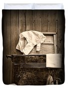 Vintage Laundry Room In Sepia	 Duvet Cover